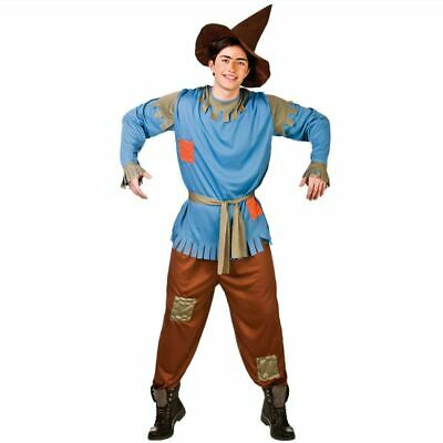 £15.99 • Buy NEW Scarecrow Men's Wizard Of  Oz Fancy Dress Adult World Book Day Costume & Hat