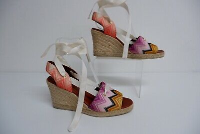 £118.20 • Buy Missoni Wedge Knitted Shoes Espadrilles Size 37 Uk 4 Immaculate Condition Heels