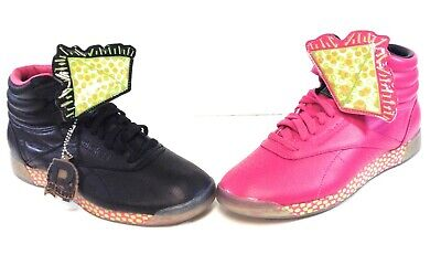 £292.49 • Buy Womens Reebok Keith Haring V53701 Freestyle Hi Int R12 Black Pink Sneakers Shoes