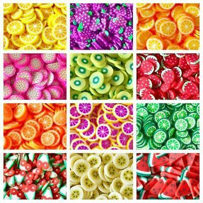 £2.75 • Buy 10g/20g Quality Kawaii Faux Mini Fruit Fimo Clay Slices Decoden Sprinkles Slime