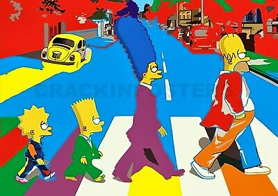 £3.95 • Buy The Simpsons On Abbey Road. Famous Landmark Poster. Professionally Printed.