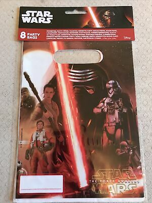 £1.75 • Buy Official Disney Star Wars The Force Awakens 8 Birthday Party Loot Bags *New*