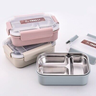 £14.49 • Buy Lunch Box Portable Stainless Steel Thermos Thermal Food Container Case