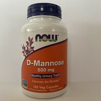 AU24.44 • Buy NOW: D-Mannose 500 Mg- Pure Powder - Cleanses The Bladder - 120 Capsules