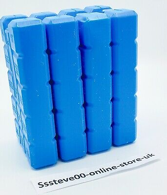 £5.99 • Buy Pack Of 4 Freezer Blocks For Cool Bags Ice Boxes New Blue Picnics Lunch Beach
