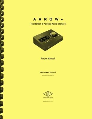 AU38.57 • Buy Universal Audio ARROW Interface Hardware And Software OWNER'S MANUAL