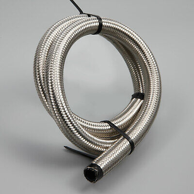 £11.99 • Buy AN-10 9/16  14MM Stainless Steel Braided Rubber Oil Cooler Hose Pipe 1 Metre