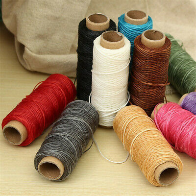 £3.77 • Buy 30m Waxed Thread Cotton Cord String Strap Hand Stitching Thread For Leather DIY