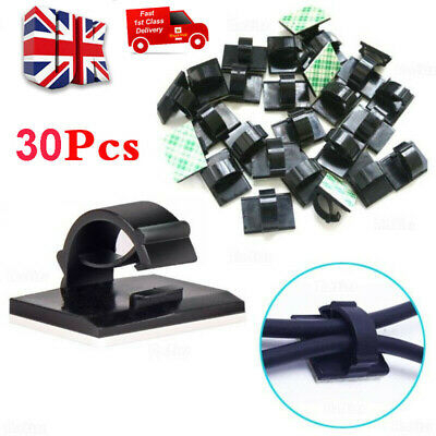 £3.99 • Buy 30x Car Cable Clips Self-Adhesive Cord Management Wire Holder Organizer Clamp UK