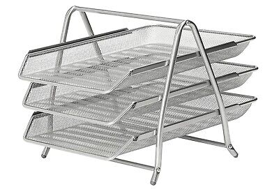 £6.99 • Buy Osco 3-TIER MESH LETTER TRAY Stackable, Scratch Resistant Document Trays!