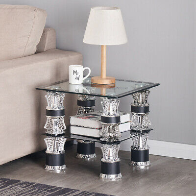 £158.99 • Buy Modern Black White Nest Of Tables Coffee Table Side End Table Home Living Room