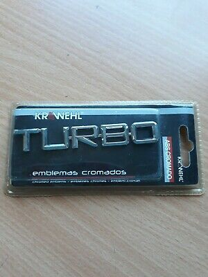 £4 • Buy Chrome Turbo Car  3D Badge Decals Styling Free UK Postage