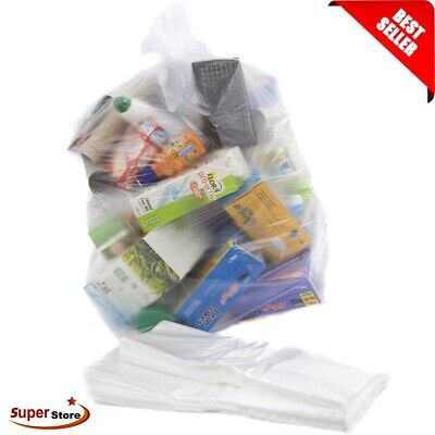 £4.89 • Buy Bin Liners Rubbish Bags Recycling Sack Refuse Strong Size 18x29x39 L Clear 10Pcs