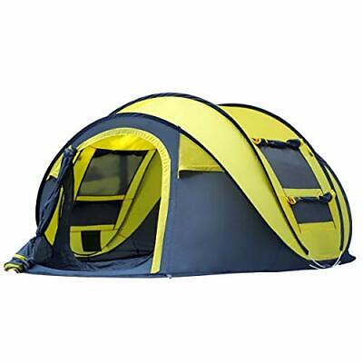 AU196.82 • Buy Pop-up Tent 4 Man Camping Outdoor  For Waterproof Quick-Opening Tents