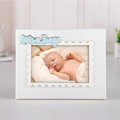 £36.62 • Buy Wood Photo Frame Perfect For Newborn Memorial Silvering Enamel 3D Pattern Crafts