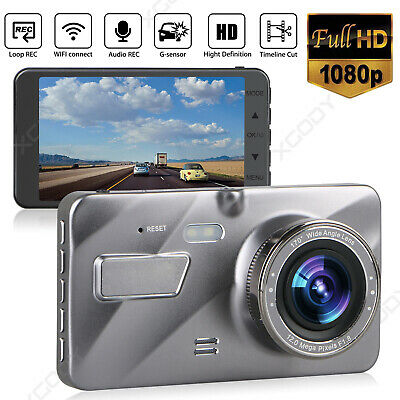 AU34.99 • Buy 4'' HD 1080P Dual Lens Car DVR Reversing Camera Video Recorder Dash Cam G-sensor