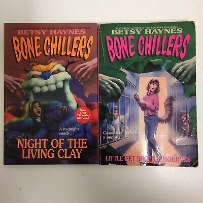 £9.81 • Buy Lot Of 2 Bone Chillers Books By Betsy Haynes Vintage Paperback Pet Shop Brew