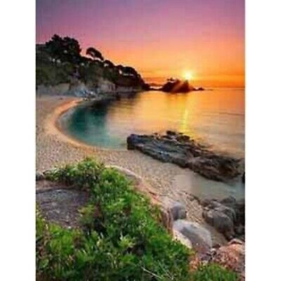 AU12.99 • Buy 5D Diamond Painting Beach Sunset Cross Craft Stitch Art Kit Mural Decor Scenery