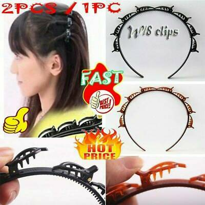$ CDN2.75 • Buy Women Hair Accessories Twist Clips Headband With Toothed Headband Braid Tool