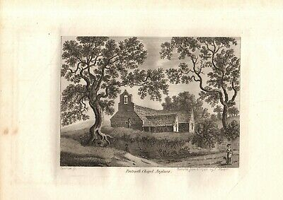 £14.80 • Buy SCARCE 18th CENTURY 'GROSE' HAND-CUT COPPERPLATE PRINT-PENTRAETH CHAPEL,ANGLESEY