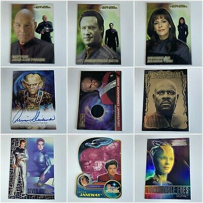 £2 • Buy Star Trek Trading Cards Chase Rare Foil Autograph Next Generation DS9 Voyager