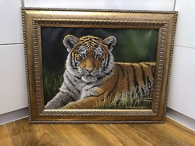 """£40 • Buy Stephen Gayford Nature Canvas Print Of Tiger """"Young Hopeful"""""""