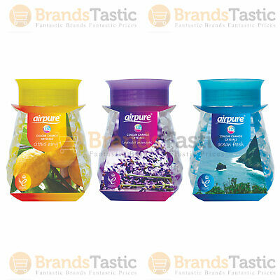£6.99 • Buy 3 X Airpure Led Colour Change Crystals 300g Air Freshener Home Office Kitchen