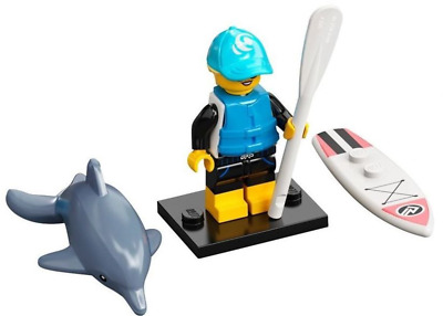 Lego Minifig Paddle Surfer, Minifigure Series 21 Choose Part NEW • 3£
