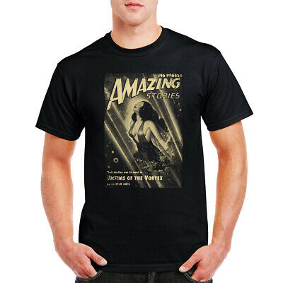 £9.99 • Buy  Amazing Stories T-Shirt Pin Up Victims Of The Vortex Comic Book Birthday Gift