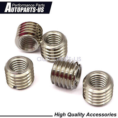 $11.69 • Buy 5 X THREAD ADAPTERS – M12 MALE TO M8 FEMALE - THREADED REDUCERS