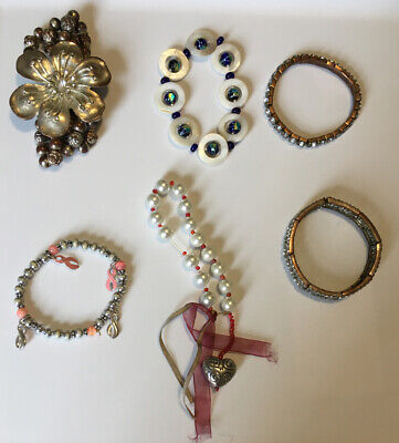 $ CDN6.69 • Buy Cute Stretch Bracelet Lot Of 6 (SEE PICTURES) Costume Jewelry
