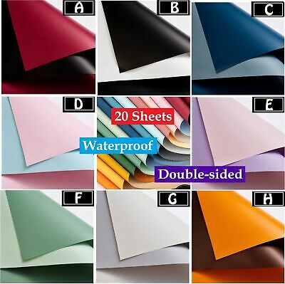 £8.49 • Buy 20 Sheets Flower Gift Wrapping Paper Double-sided Florist Bouquet Packaging