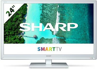 £169 • Buy Sharp 24BC0KW 24  HD Ready Smart TV - White HD Ready Active Motion 100