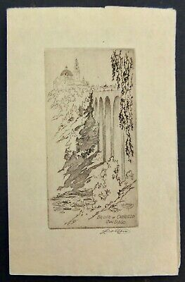 £89.91 • Buy  John Wesley Cotton Signed Etching Titled  Bridge Of Cabrillo San Diego  CA