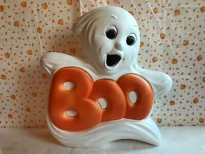 $ CDN43.74 • Buy Blow Mold Halloween Decoration Boo Ghost Light Up Grand Venture NEW STOCK
