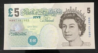 Old Five £5 Pound Note Uncirculated • 18£