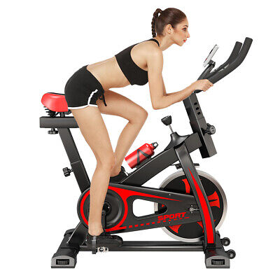 PRO Indoor Training Fitness Exercise Bike Cycle Home Gym 10KG Spinning Flywheel • 169.99£