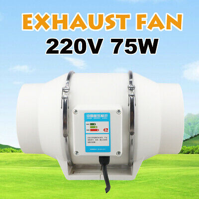 AU38.99 • Buy 6   Inch Hydroponic Inline Exhaust Vent Silent Fan Extractor Duct Kitchen AU