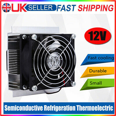 £17.48 • Buy 12V 6A Thermoelectric Peltier Refrigeration Cooler Fan Space Cooling System Kit