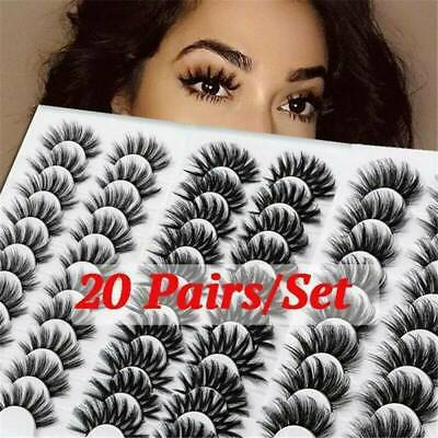 5/10/20Pairs False Eyelashes Long Thick Natural Fake Eye Lashes Mink Makeup 2021 • 3.29£