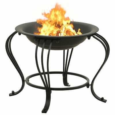 Outdoor Fire Pit Wood Log Burning Heater Garden Stove Patio Brazier Black Bowl • 79.99£