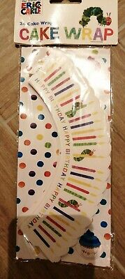 Eric Carle Hungry Caterpillar 24 Cake Wraps New 3 Different Designs • 3.25£