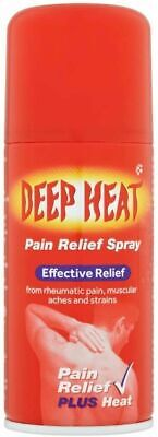 £5.85 • Buy Deep Heat Pain Relief Spray, 150ml Thigh Warming & Muscles Joints Bones Back