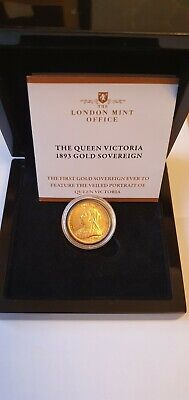 £425 • Buy Gold Sovereign (royal Mint) 1893 Queen Victoria Sold In Original Case.