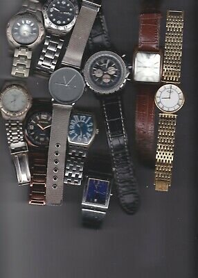 Gents Wrist Watches (10) Spares Or Repair Job Lot • 102£