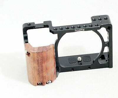 $ CDN61.41 • Buy SmallRig Cage For Sony A6500 A6300 A6000 Camera With Wood Grip
