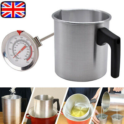£12.49 • Buy Wax Melting Pot Pouring Pitcher Jug Aluminium Candle Soap Make Thermometer 1.2L