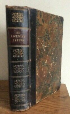 £29.99 • Buy 1847 Edition Pickwick Papers Charles Dickens Part Leather Bound Chapman & Hall