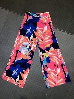 RRP £42 NEW RIVER ISLAND Colourful Wide Leg Palazzo Trousers, Size 8 New • 19.99£