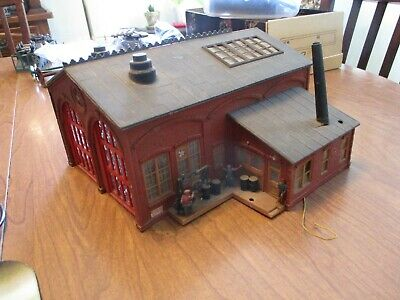 $24 • Buy Kit Bashed Con -cor Machine Shop.  Lighted Interior. 3 Workers.  H.o Scale.  Ver